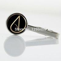 atom symbols - Promotion Atheist Atom Symbol silver metal tie pin Fashion simple atheist symbol tie clip for Business Tie Clip T