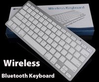 Wholesale Mini Wireless Keyboard Slim Streamline Design Ghz Bluetooth Keyboards for iphone iPad Samsung Tablet PC Laptop PC With Retail Package dhl