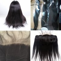 Wholesale Brazilian virgin mink straight hair weft with lace frontal unprocessed virgin human hair inch available can be dyed