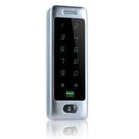 Купить Пароль панели-Главная квартира Система контроля доступа Сенсорная панель поддержки 13,56 IC карты и пароль открытых дверей 8000 Пользователи Silver F1263D