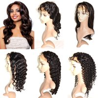 Wholesale Brazilian Virgin Hair Glueless Full Lace Human Hair Wigs Cheap Human Hair Lace Front Wigs for Black Women Natural Hairline with Baby Hair