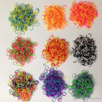 Cheap luttion cheap Rainbow Loom bands rubber bands loom bands tie dye rainbow loom bands 600bands+24 clips+1 hook Christmas gift