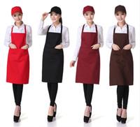 Wholesale Unisex Aprons Colors Solid Plain Apron with Front Pocket Chefs Butchers Waiter Restaurant Home Kitchen Cookware Craft Baking
