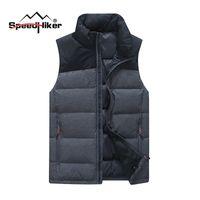 Wholesale Fall Speed hiker winter Down vest Men Down Vest Warm Soft Down Sleeveless jacket Male Casual Vest Plus XL