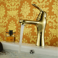 bathroom tap tops - Bathroom Wash Basin Washing Water Taps Sink Top Install Modern Luxury Gold Sink Faucet for Sale