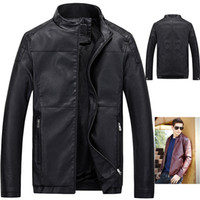 Wholesale Fall New Fashion Men s Fleece Jacket Motorcycle Leather Jacket Casual Suede Jacket For Men Brand Sports Faux Leather Coat Male J049