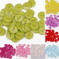 Wholesale 100Pcs Candy Color Plastic Sewing Buttons Scrapbook mm Holes For Craft DIY Snowpear C00027 CAD