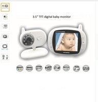 Wholesale inch Wireless baby monitor Audio Video Baby Monitor Security Camera Way Talk Nigh Vision IR LED Temperature Monitoring
