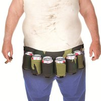 beer holsters - Mountaineering Beer Belt Pack Beer Holster Canvas Adjustable Camping Parties Carry Drinks for Women and Men Belt Outdoor A077