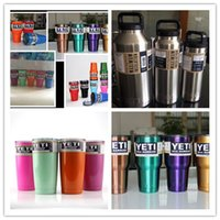 Wholesale DHL YETI Coolers Stainless Steel Rambler Keeps Hot or Cold for Hours Drinking Cup OZ OZ OZ OZ OZ YETI Bottle