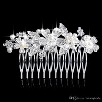 art deco jewelry - Bridal hair comb Wedding hair jewelry crystal hair piece pearls hair accessories Art Deco Head Piece Headdress
