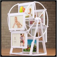 Wholesale 2016 NEW White Photo Frame Picture Frames Ferris Wheel Windmill Shape Home Decor New Gift Creative top buzz photo wall