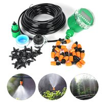automatic drip irrigation system - 15M Automatic Spray Drip Irrigation System Self Watering Garden Hose Kits with Connector Adjustable dripper