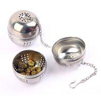 aluminum mesh filters - Stainless Steel Ball Tea Strainer Infuser Mesh Filter Tea Leaf Spice Hook G00214 CAD
