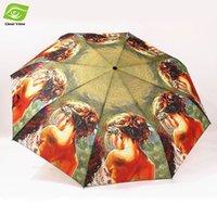 beauty rains - Sexy Beauty Back Oil Painting Sun Umbrella Rain Women Beach Umbrella Automatic Folding Umbrellas