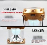 Wholesale 10pcs Off Blue Led Disaster Prevention Artifact W Multifunctional Hiking Solar Lantern Light XL G85Z