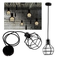 Wholesale Edison Retro Antique Bar Decor Ceiling Drop Pendant Light Protect Metal Grenade Chandelier Lampshade