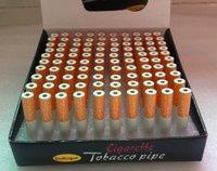 Wholesale 100 mm Cigarette Shape Smoking Pipes Mini Cheap Portable Designer Tobacco Pipes Snuff tube Aluminum Smoking Accessories