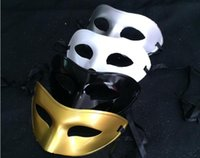 Wholesale Men s half face mask dress ball Venice single color dress mask a variety of colors available