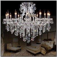 best hotels europe - Best selling clear crystal chandelier Deckenleuchten big glass cristal chandelier light fitting with lights D980mm H750mm