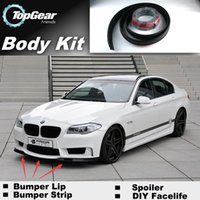 Wholesale Bumper Lip Lips For BMW Series F22 F45 Front Skirt Deflector Spoiler For Car Tuning The Stig Recommend Body Kit Strip