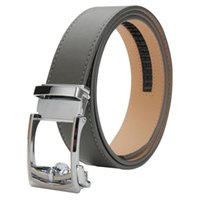 Wholesale Mens Ratchet automatic buckle Leather Belt mm Grey