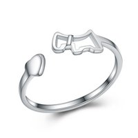 Apertura de diseño de tamaño ajustable genuino 925 plata de ley llano anillo de joyería precios bajos China al por mayor mercado de joyería