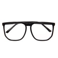 Wholesale Black eyeglass frame Unisex Resin Lens Plastic Frame Glasses Goggle big size