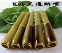 Wholesale The men s toy pastime straight mouth cigarette filter holder cm imitation horn long rod rack Yanju