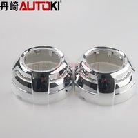 Wholesale Autoki Car headlight Projector Lens Shroud Cayenne Q5 style Shroud For BI Xenon Projector Lens