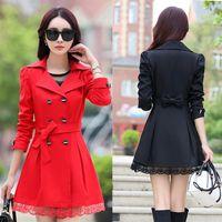 Wholesale NEW blazer women Dust coat blazer foldable brand Trench Coats cotton spandex with lining Vogue refresh blazers