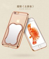 apple cosmetic case - New Cosmetic Magic Mirror Electroplate Transparent Phone Back Soft TPU Full Cover Case For iPhone SE S S Plus inch MOQ