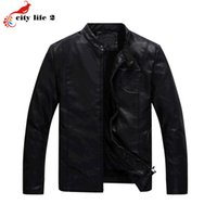 Wholesale Fall Flocking PU Men s Leather Jacket Washable Cashmere Coat Locomotive Thick New Winter Outwear For Men Black Jacket L XXXL