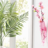 Wholesale 100pcs LJJG181 Wall Hanging Vase Wall Mounted Fish Shaped Flower Vase House Decration cm