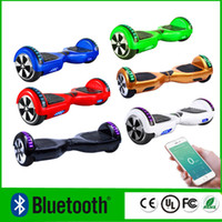 Wholesale LED Scooter Bluetooth Music Player Hoverboard Electric Skateboard Smart Scooter Two Wheel inch Balancing Wheel Upgrade Scooter Phone App