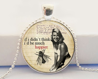 american poetry - Book Quote Sylvia Plath Poetry Glass Picture Pendant Literary Librarians Bibliophiles Art Pendant Necklace