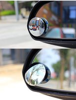 Wholesale 2PCS Car Rear view mirror small round mirror Blind spot mirror Wide angle lens Degrees adjustable Rear view auxiliary