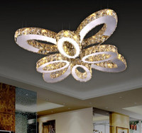 Wholesale K9 Crystal Led Chandelier Ceiling Lights Three Colors With Remote Control Modern Chandeliers Indoor Lighting Fixtures Lustres De Cristal