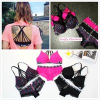 Wholesale Top Quality Love PINK Bra and Briefs Panties Sets Women Cotton Beauty Lace Comfort Sexy Underwear Lingerie Pieces Set