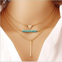 Wholesale Statement Necklaces For Women Lady Girls Charms Golden Angel Wing Arrow Coin Pandent Multi layer Beands Stands European Style Strings KB339