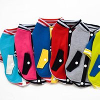 Wholesale The Dog Baseball Dress Wweater Autumn and Winter Tactic VIP Small Dogs Clothing Supplies Pet Clothing Lemon Yellow