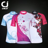 Wholesale Promotion Cheji Team Summer Dazzle Colour Bike Jersey Girl s Cycling Skinsuit Styles Mountain Bike Shirt Ciclismo Clothing Kit