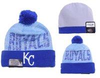 Kansas City Royals Sombreros de béisbol Sombrero de equipo Gorras de invierno Gorras populares Gorros de cráneo Los mejores casquillos de deportes de calidad permiten orden de mezcla