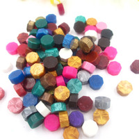 Wholesale 100pcs one Color optional Vintage sealing wax granule grain peel strip sticks stamp for envelope wedding