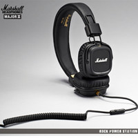 Wholesale Marshall Major Headphone Noise Cancelling Headset Mic Deep Bass DJ HiFi Earphones Professional DJ Monitor Headphones with Retail Box