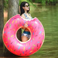 Wholesale Swimming Laps Water Games Necessary cm Buoy Floating Ring Inflatable Swimming Laps Wildly Popular Summer Sell Doughnuts Swimmin