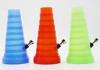 Precio de Shisha humo de colores-collapsibl colorido Bong VIAJE DEL TUBO DE AGUA MINI tubo de plástico BONG HIERBA tabaco para pipa cachimba del shisha pipas de fumar EN STOCK