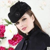 Wholesale 2013 women fashion flowers hat winter woolen beret cap