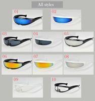 Wholesale 10 colors unisex outdoor sports sunglasses fishtail design frames sandstorm prevent mountain bike cycling glasses riding sunglasses