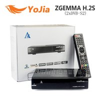 dvb s2 receiver - 10pcs Original Zgemma H S satellite receiver TWO DVB S2 enigma Linux Operating System HD Support TF card